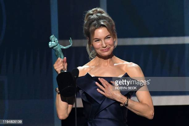 Actress Renee Zellweger accepts the award for Outstanding Performance by a Female Actor in a Leading Role during the 26th Annual Screen Actors Guild...
