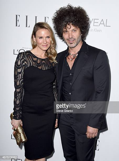 Actress Renee Zellweger and musician Doyle Bramhall attend the 2014 ELLE Women In Hollywood Awards at the Four Seasons Hotel on October 20 2014 in...