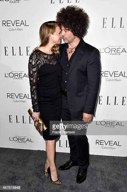 Actress Renee Zellweger and recording artist Doyle Bramhall II arrives at ELLE's 21st Annual Women In Hollywood at Four Seasons Hotel Los Angeles at...