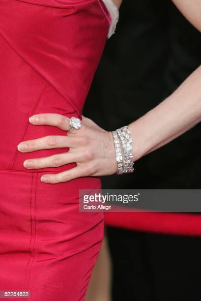 Actress Renee Zellweger arrives at the 77th Annual Academy Awards at the Kodak Theater on February 27 2005 in Hollywood California