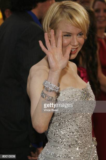 Actress Renee Zellweger arrives at the 80th Annual Academy Awards held at the Kodak Theatre on February 24 2008 in Hollywood California