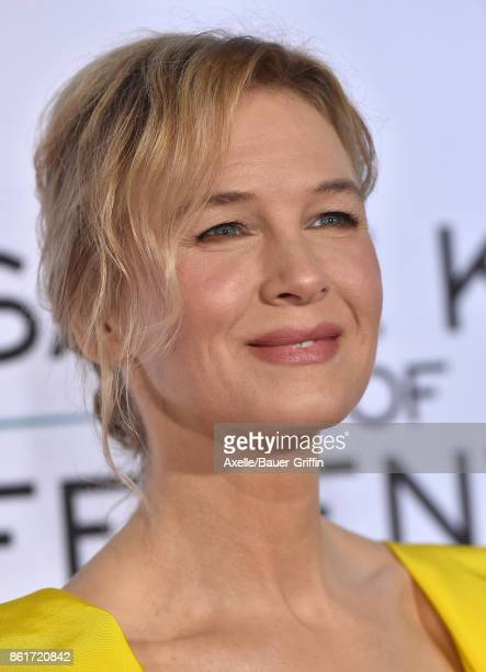 Actress Renee Zellweger arrives at the premiere of 'Same Kind of Different as Me' at Westwood Village Theatre on October 12, 2017 in Westwood,...