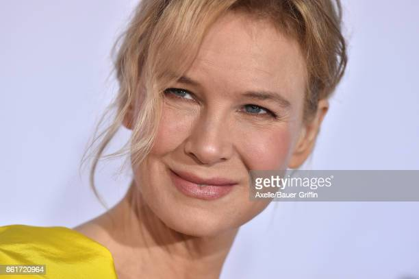 Actress Renee Zellweger arrives at the premiere of 'Same Kind of Different as Me' at Westwood Village Theatre on October 12 2017 in Westwood...