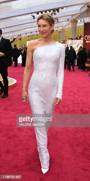 US actress Renee Zellweger arrives for the 92nd Oscars at the Dolby Theatre in Hollywood California on February 9 2020