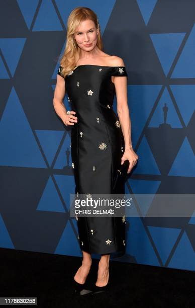 US actress Renee Zellweger arrives to attend the 11th Annual Governors Awards gala hosted by the Academy of Motion Picture Arts and Sciences at the...