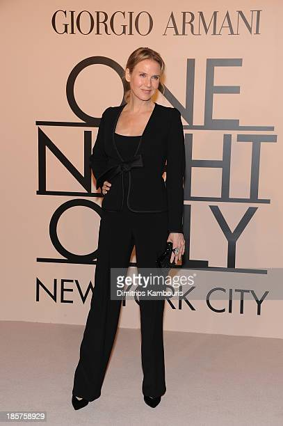 Actress Renee Zellweger attends Giorgio Armani One Night Only NYC at SuperPier on October 24 2013 in New York City