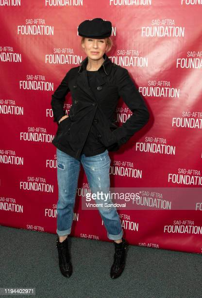 Actress Renee Zellweger attends SAGAFTRA Foundation Presents Career Retrospective with Renee Zellweger at SAGAFTRA Foundation Screening Room on...