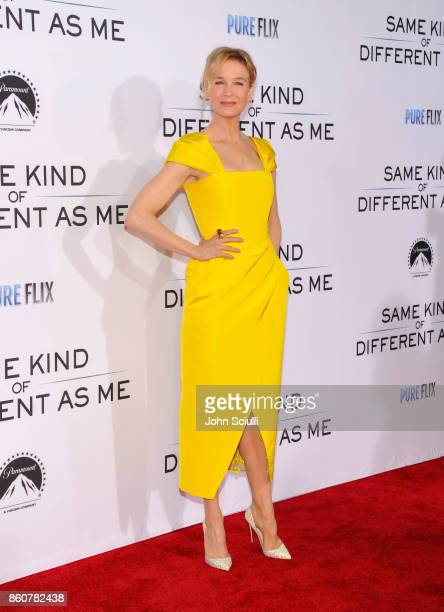 Actress Renee Zellweger attends Same Kind Of Different As Me Premiere on October 12 2017 in Los Angeles California