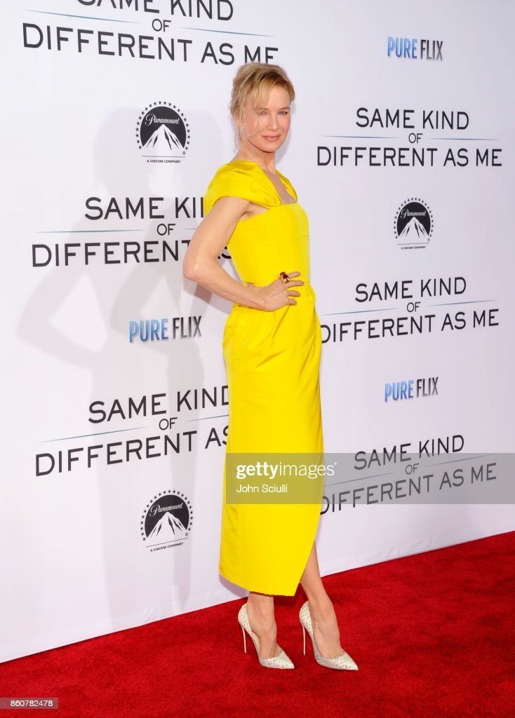 Actress Renee Zellweger attends Same Kind Of Different As Me Premiere on October 12, 2017 in Los Angeles, California.