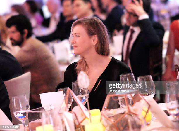 Actress Renee Zellweger attends the 20th Annual Los Angeles Gala Dinner hosted by Conservation International on March 10 2016 in Culver City...