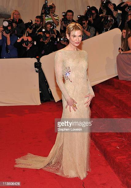 Actress Renee Zellweger attends the 'Alexander McQueen Savage Beauty' Costume Institute Gala at The Metropolitan Museum of Art on May 2 2011 in New...