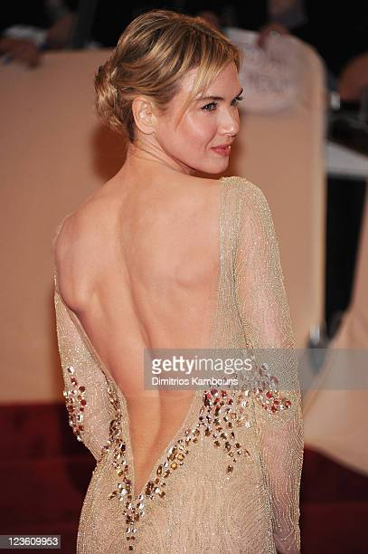 Actress Renee Zellweger attends the Alexander McQueen Savage Beauty Costume Institute Gala at The Metropolitan Museum of Art on May 2 2011 in New...