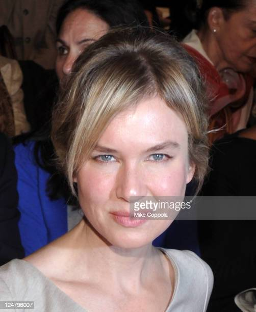 Actress Renee Zellweger attends the Carolina Herrera Spring 2012 fashion show during MercedesBenz Fashion Week at The Theater at Lincoln Center on...