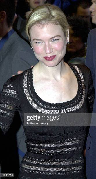 Actress Renee Zellweger attends the film premiere of Bridget Jones'' Diary April 2001 in London's Empire Cinema