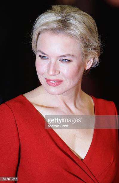 Actress Renee Zellweger attends the premiere for 'My One And Only' as part of the 59th Berlin Film Festival at the Berlinale Palast on February 12...