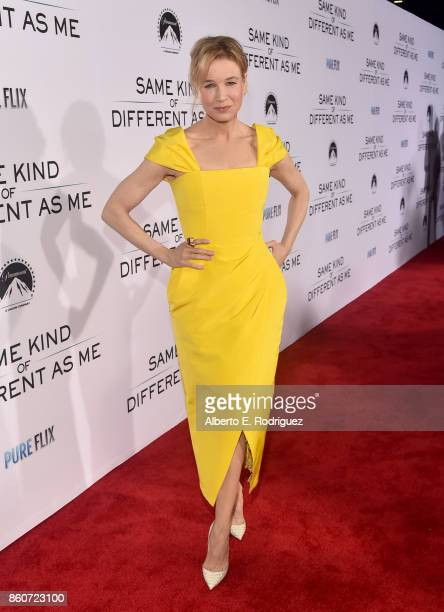 Actress Renee Zellweger attends the premiere of Paramount Pictures and Pure Film Entertainment's Same Kind Of Different As Me at Westwood Village...