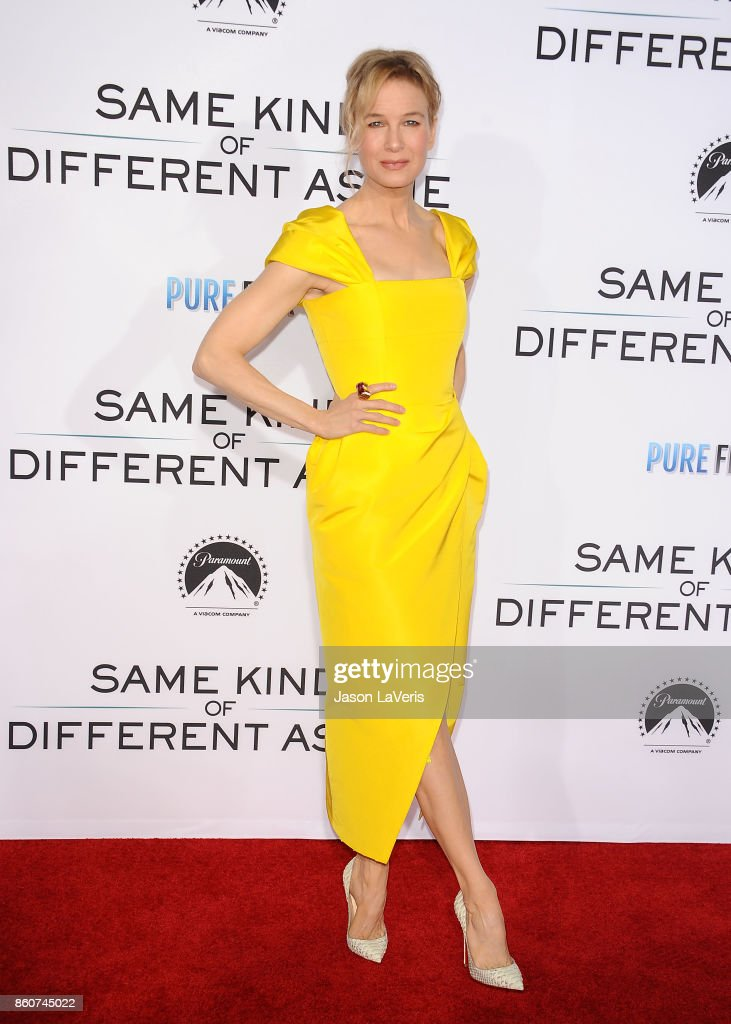 Actress Renee Zellweger attends the premiere of 'Same Kind of Different as Me' at Westwood Village Theatre on October 12, 2017 in Westwood, California.
