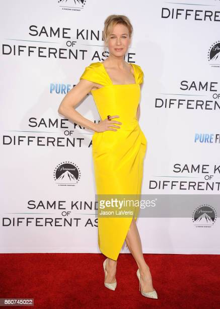 """Actress Renee Zellweger attends the premiere of """"Same Kind of Different as Me"""" at Westwood Village Theatre on October 12, 2017 in Westwood,..."""