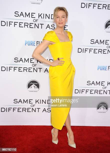 Actress Renee Zellweger attends the premiere of Same Kind of Different as Me at Westwood Village Theatre on October 12 2017 in Westwood California