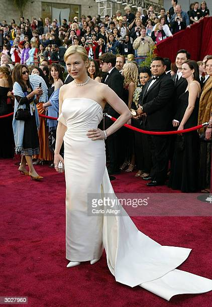 Actress Renee Zellweger nominated for Best Actress in a Supporting Role for Cold Mountain attends the 76th Annual Academy Awards at the Kodak Theater...