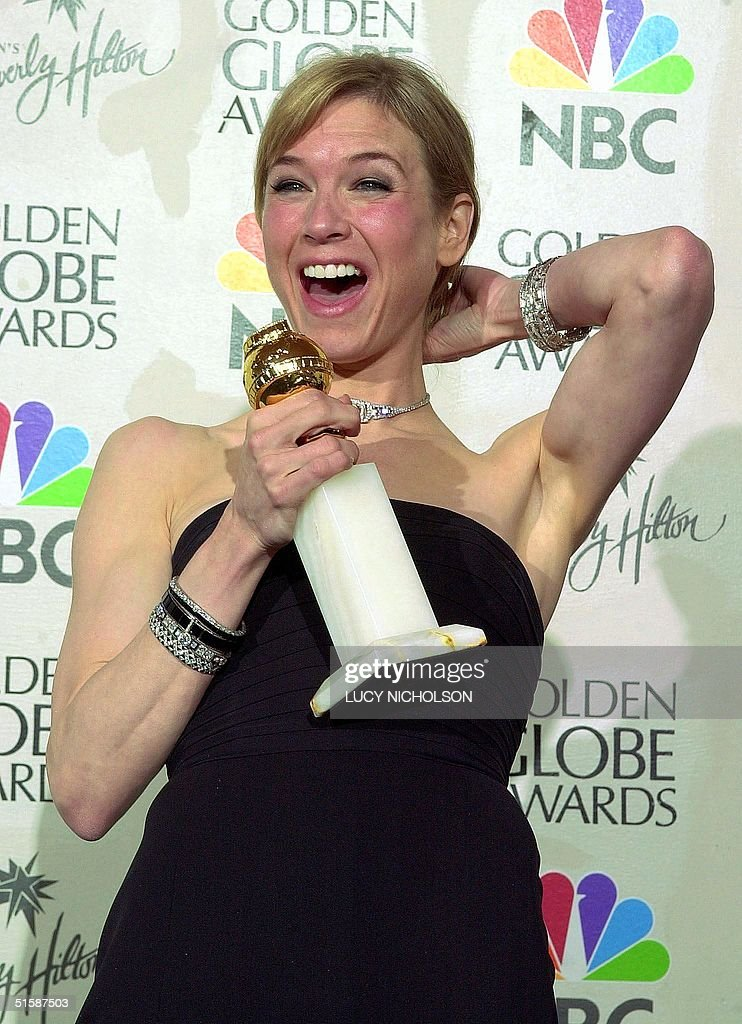 Actress Renee Zellweger poses with her award after : News Photo