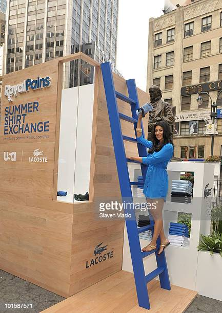 Actress Reshma Shetty of USA Network's Royal Pains attends the Royal Pains Summer Shirt Exchange benefitting Doctors Without Borders in Greeley...