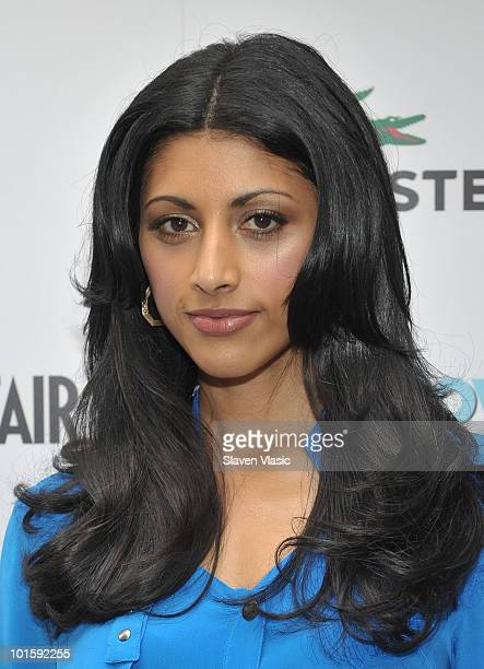 Actress Reshma Shetty of USA Network's Royal Pains attends the Royal Pains Summer Shirt Exchange to benefit Doctors Without Borders in Greeley Square...