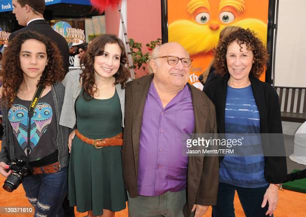 Actress Rhea Perlman and actor Danny DeVito arrive at the 'Dr Suess' The Lorax' Los Angeles premiere at Universal Studios Hollywood on February 19...