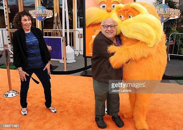 Actress Rhea Perlman and actor Danny DeVito attend the premiere of Dr Seuss' The Lorax at Universal Studios Hollywood on February 19 2012 in...