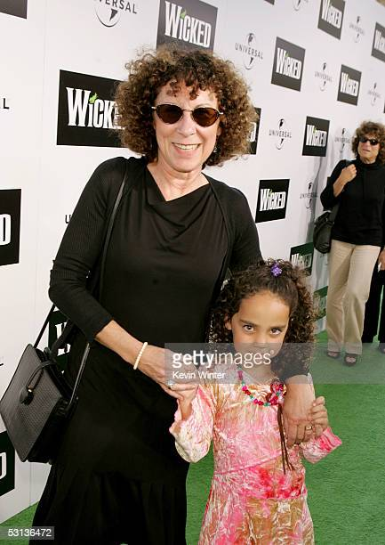 Actress Rhea Perlman and guest arrive at the Los Angeles Premiere of the Broadway musical Wicked at the Pantages Theatre on June 22 2005 in Hollywood...