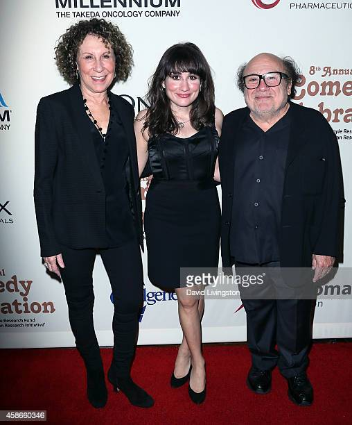 Actress Rhea Perlman daughter actress Lucy DeVito and Danny DeVito attend the International Myeloma Foundation's 8th Annual Comedy Celebration at the...