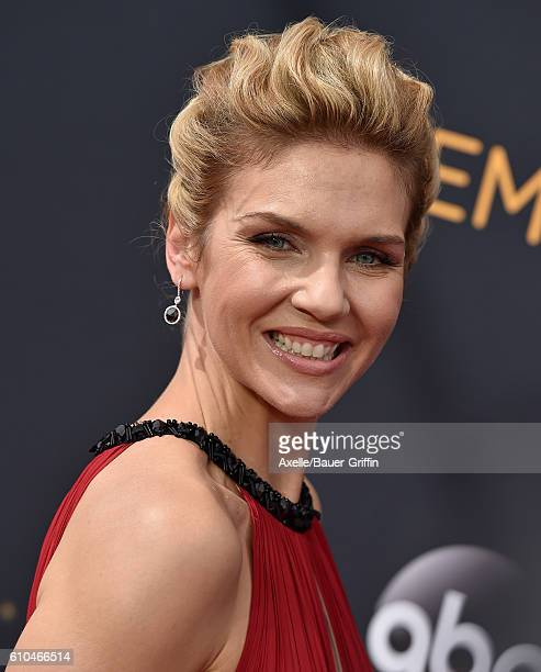 Actress Rhea Seehorn arrives at the 68th Annual Primetime Emmy Awards at Microsoft Theater on September 18 2016 in Los Angeles California