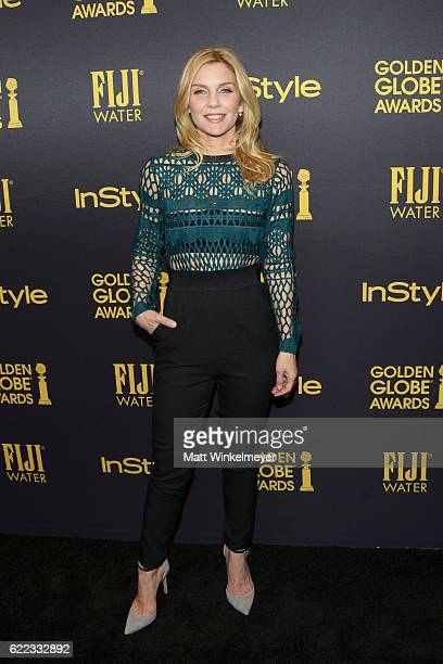 Actress Rhea Seehorn arrives at the Hollywood Foreign Press Association and InStyle celebrate the 2017 Golden Globe Award Season at Catch LA on...