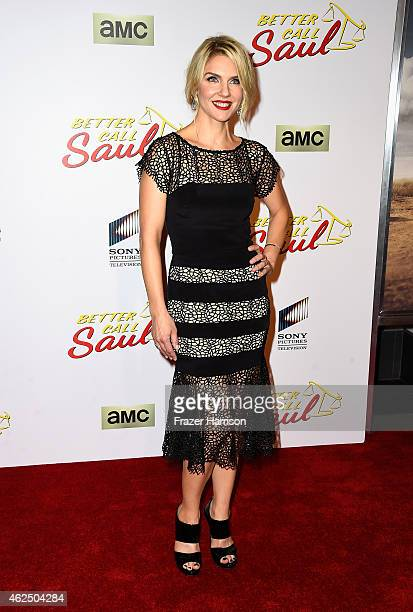 Actress Rhea Seehorn arrives at the Series Premiere Of AMC's 'Better Call Saul' at Regal Cinemas LA Live on January 29 2015 in Los Angeles California