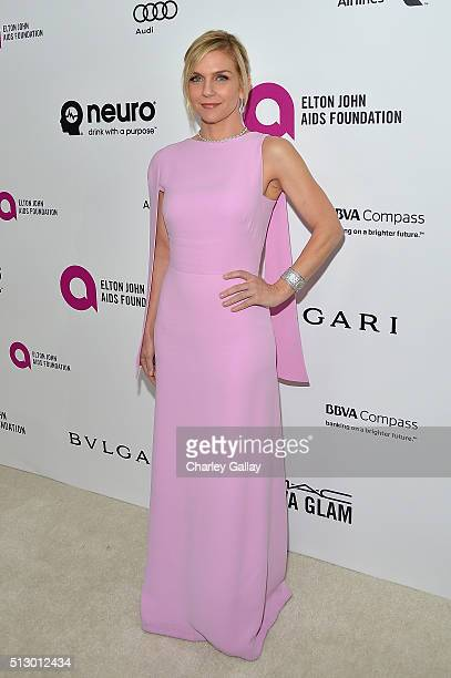 Actress Rhea Seehorn attends Neuro at the 24th Annual Elton John AIDS Foundation's Oscar Viewing Party at The City of West Hollywood Park on February...