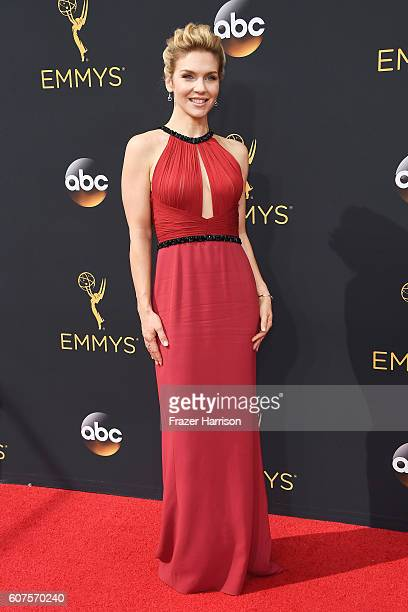 Actress Rhea Seehorn attends the 68th Annual Primetime Emmy Awards at Microsoft Theater on September 18 2016 in Los Angeles California