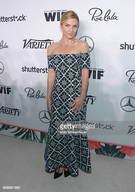 Actress Rhea Seehorn attends Variety and Women in Film's PreEmmy Celebration at Gracias Madre on September 16 2016 in West Hollywood California