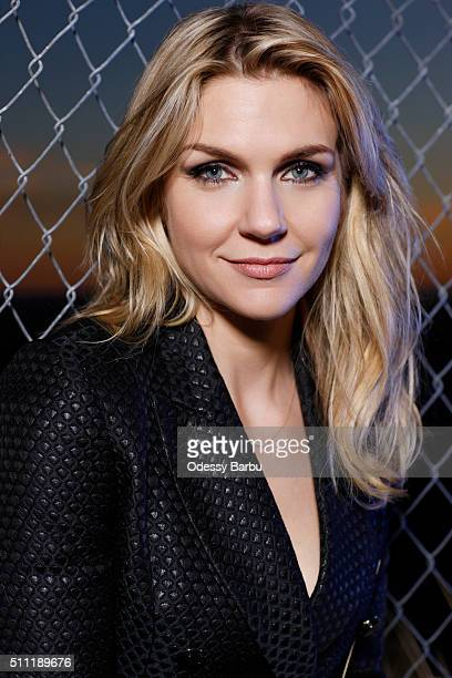 Actress Rhea Seehorn is photographed for Emmy Magazine on December 17 2015 in Los Angeles California
