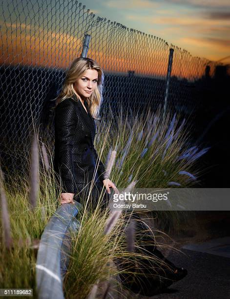Actress Rhea Seehorn is photographed for Emmy Magazine on December 17 2015 in Los Angeles California PUBLISHED IMAGE