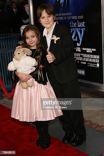 Actress Rhiannon Leigh Wrynand actor Chris O'Neil attend the film premiere for The Last Mimzy at the Mann Village Theatre on March 20 2007 in Los...