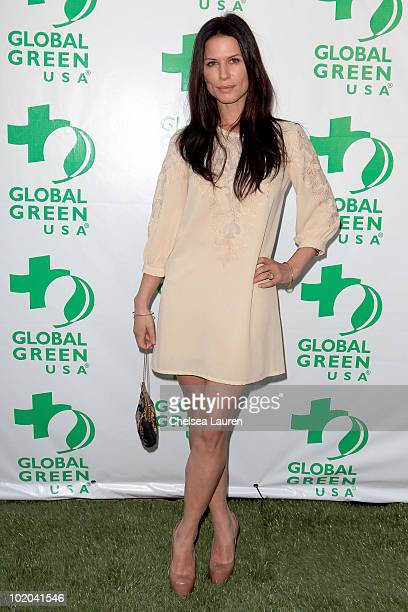 Actress Rhona Mitra arrives at Global Green USA's 14th Annual Millennium Awards at Fairmont Miramar Hotel on June 12 2010 in Santa Monica California