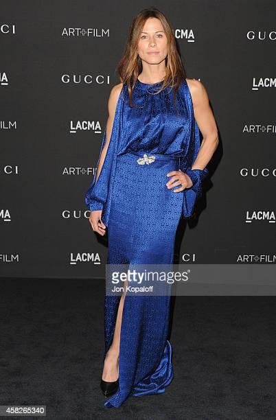 Actress Rhona Mitra arrives at the 2014 LACMA Art + Film Gala Honoring Quentin Tarantino And Barbara Kruger at LACMA on November 1, 2014 in Los...