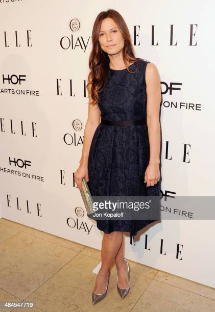 Actress Rhona Mitra arrives at the ELLE Women In Television Celebration at Sunset Tower on January 22 2014 in West Hollywood California