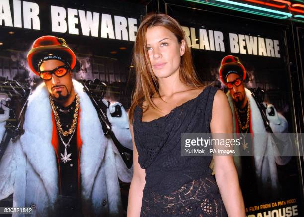 Actress Rhona Mitra arriving at the Empire Cinema in London's Leicester Square for the premiere of Ali G InDaHouse