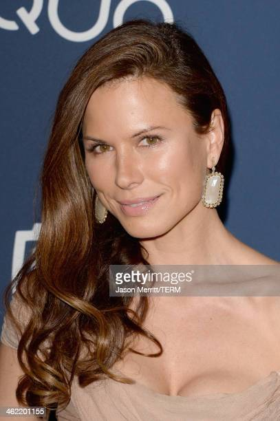 Actress Rhona Mitra attends the 2014 InStyle and Warner Bros 71st Annual Golden Globe Awards PostParty on January 12 2014 in Beverly Hills California