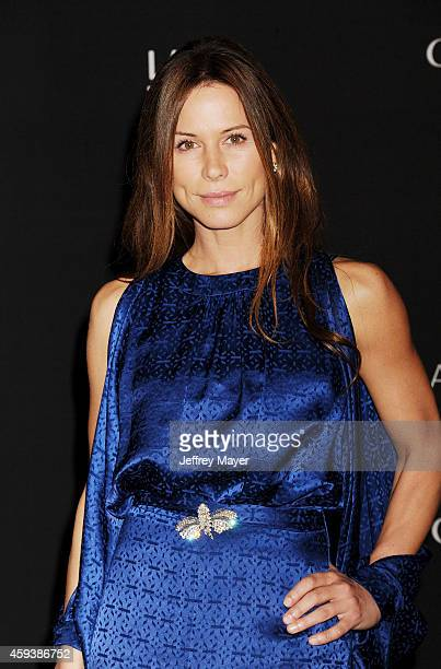 Actress Rhona Mitra attends the 2014 LACMA Art Film Gala honoring Barbara Kruger and Quentin Tarantino presented by Gucci at LACMA on November 1 2014...