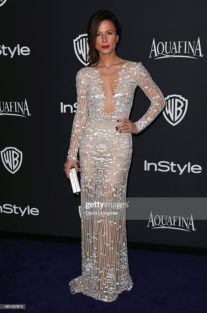 Actress Rhona Mitra attends the 2015 InStyle and Warner Bros. 72nd Annual Golden Globe Awards Post-Party at The Beverly Hilton Hotel on January 11, 2015 in Beverly Hills, California.