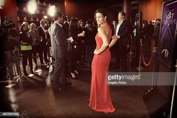 Actress Rhona Mitra attends the screening of Open Road Films' The Loft at Directors Guild Of America on January 27 2015 in Los Angeles California
