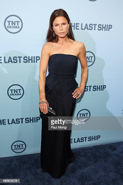Actress Rhona Mitra attends TNT's The Last Ship screening at NEWSEUM on June 4 2014 in Washington DC JPG