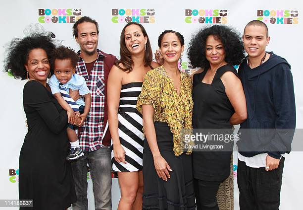 Actress Rhonda Ross Kendrick son Raif Kendrick Ross Arne Naess Books and Cookies owner Chudney Ross actress Tracee Ellis Ross recording artist Diana...